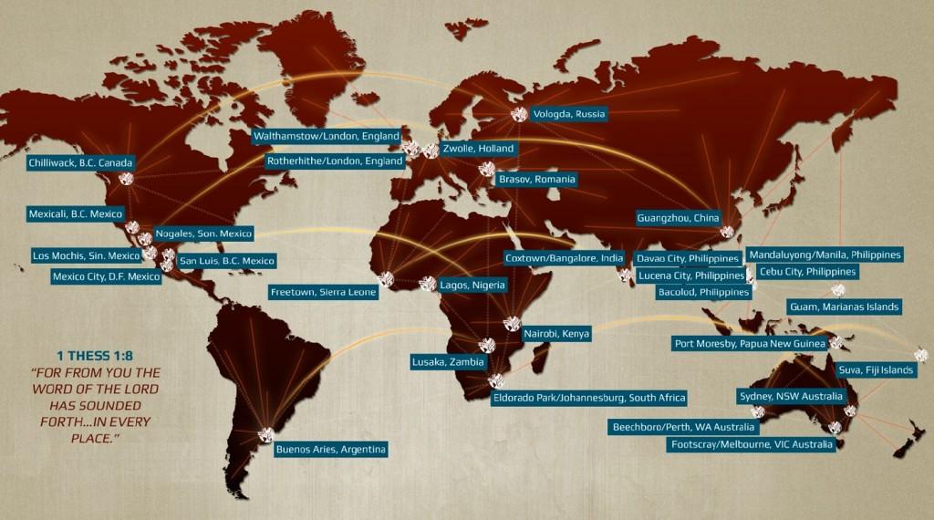 Conferenties wereldwijd Evangeliegemeente De Deur CFM