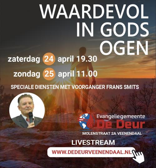 Speciale diensten met pastor Smits, 24 en 25 april 2021-banner